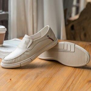 Image 3 - CAEML erkek ayakkabıları erkekler rahat hakiki deri inek derisi setleri erkek resmi ayakkabı yumuşak rahat açık yastıklama ayakkabı yeni