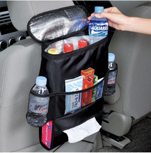Car Seat Back Hanging Bag Organizer Multi-pocket Insulated Food Water Storage Mesh Bag Container Car Stowing Tidying Bags new car multi pocket organizer black trunk toy food folding storage truck cargo container bag box auto accessory stowing tidying