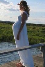 Романтические свадебные платья для беременных длинное белое
