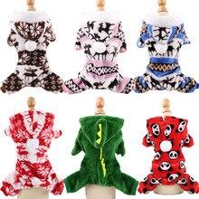 Одежда для собак, Пижама, флисовый комбинезон, зимняя одежда для собак, четыре ноги, теплая одежда для домашних животных, наряд для маленьких собак, костюм звезды, одежда