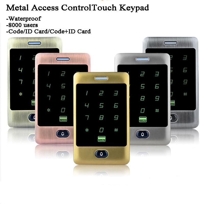 Gate Opener RFID Lock Reader Digital Keypad/Doorbell 125KHz ID Card/Code/Password Electric Door Lock Waterproof Wg26 Office/home