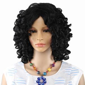 Image 3 - 아미르 헤어 짧은 가발 합성 변태 곱슬 머리 가발 중간 레드 블랙과 금발 색상 여성용 가발 내열성