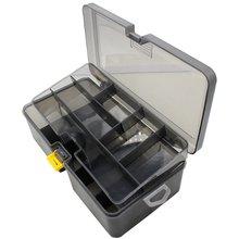 Рыболовная коробка двухслойная для снастей приманки чехол органайзер
