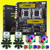 HUANANZHI X79 Dual CPU Mining Motherboard M.2 SSD Slot 2 Processors Xeon E5 2690 V2 6 Tubes CPU Coolers 8*16G 128G 1866 RAM RECC 1