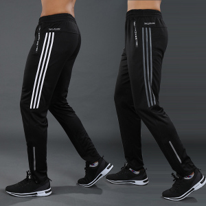 2020 New Men Sports Pants Running Pants Zipper Athletic Tennis Soccer Pant Training Sport Pants Elasticity Jogging Gym Trousers