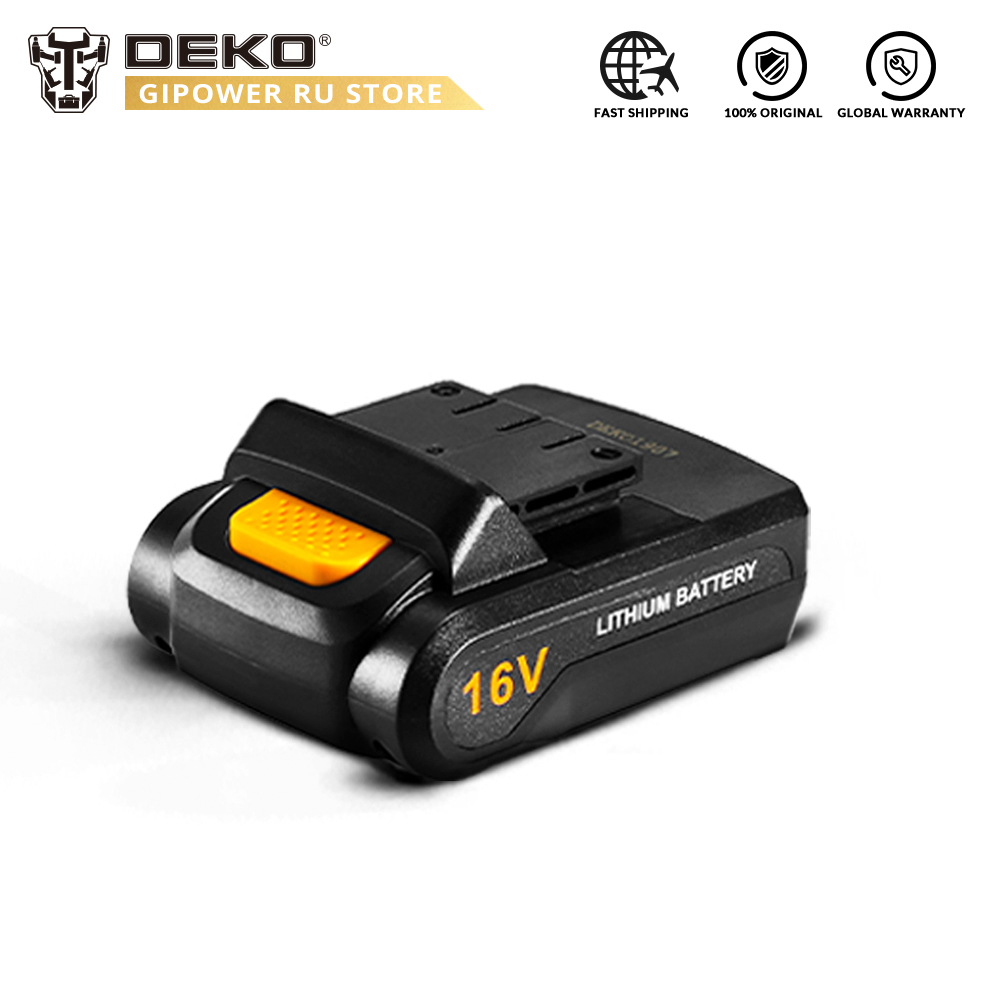 DEKO Battery16V 16V Lithium Ion Battery Pack For Loner 16V Cordless Drill