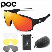 4 Lens POC ASPIRE HD Cycling Sunglasses MTB Polarized Outdoor Sports UV400 Glasses Men Women Road Bike Eyewear Bicycle Goggles