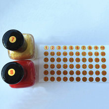 6mm Waterproof Gold Number Label Stickers For Nail Polish Lipsticker Self-Adhesive Tags Mark Color Number(China)