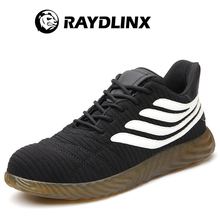 RAYDLINX Steel Toe Shoes Men Slip Resistant Anti-Smashing Puncture Proof Construction Shoes Lightweight Breathable safety shoes