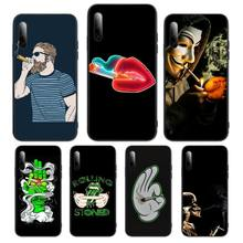 420 rolling weed smoking Phone Case For Samsung S Note20 10 2020 S5 21 30 ultra plus A81 Cover Fundas Coque