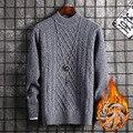 Langarm Winter Pullover Männer Rot Grau Schwarz Pullover Rollkragen Fleece Casual Neue Mode Männer Pullover