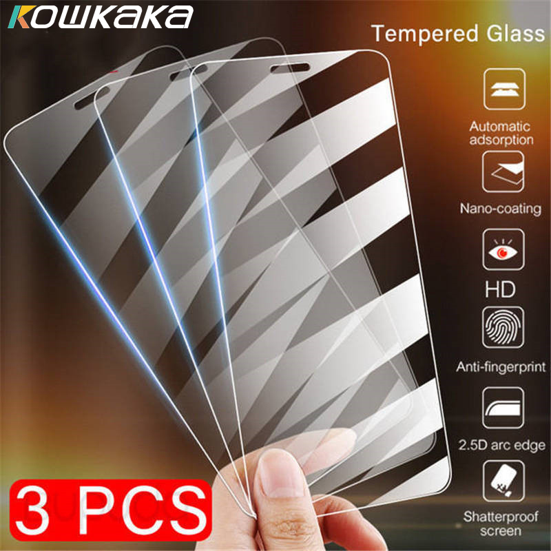 3Pcs Full Cover Glass Toughened Film IPhone 11 Pro X XS Max XR Tempered Glass For IPhone 7 8 6 6s Plus 5 5S SE Screen Protector