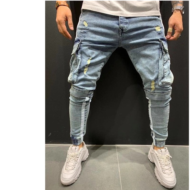 Mens Regular Fit Stretch-Fit Jeans Business Casual Classic Style Fashion Denim Trousers Male Black Blue work Pants