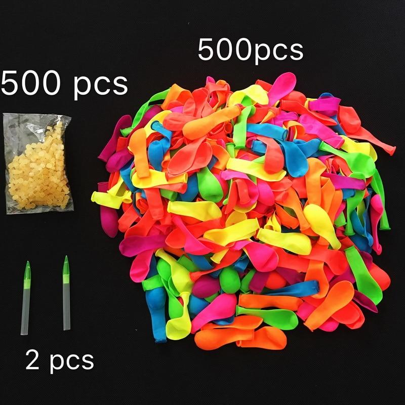 Water Bombs Balloon Amazing Filling Magic Ballon 500Pcs Balloon+ 500Rubber +2 Tool