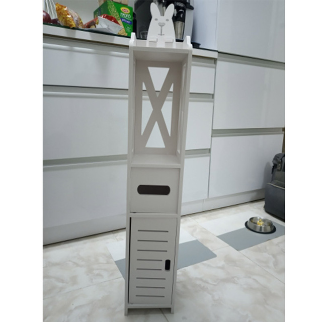 Small Bathroom Vanity Floor Standing Bathroom Storage Cabinet Washbasin Shower Corner Shelf Plants Sundries Storage Racks 4
