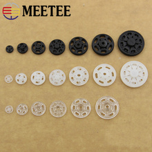 200 pcs plastic snap buttons wholesale nylon new stealth lifting buckle button lift round black clear factory direct supply