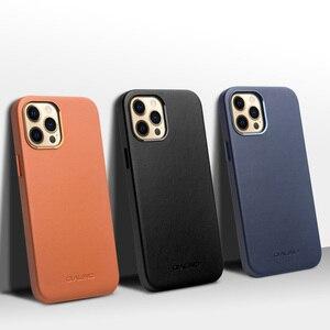 Image 3 - QIALINO אמיתי עור טלפון מקרה עבור iPhone 11Pro מקס אנטי סתיו אופנה יוקרה Ultra דק חזרה כיסוי עבור iPhone12 מיני פרו מקסימום