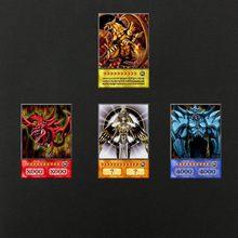 4 peças de yu-gi-oh anime estilo titã guerreiro céu dragão asa dragão clássico orica cartão proxy memórias da infância