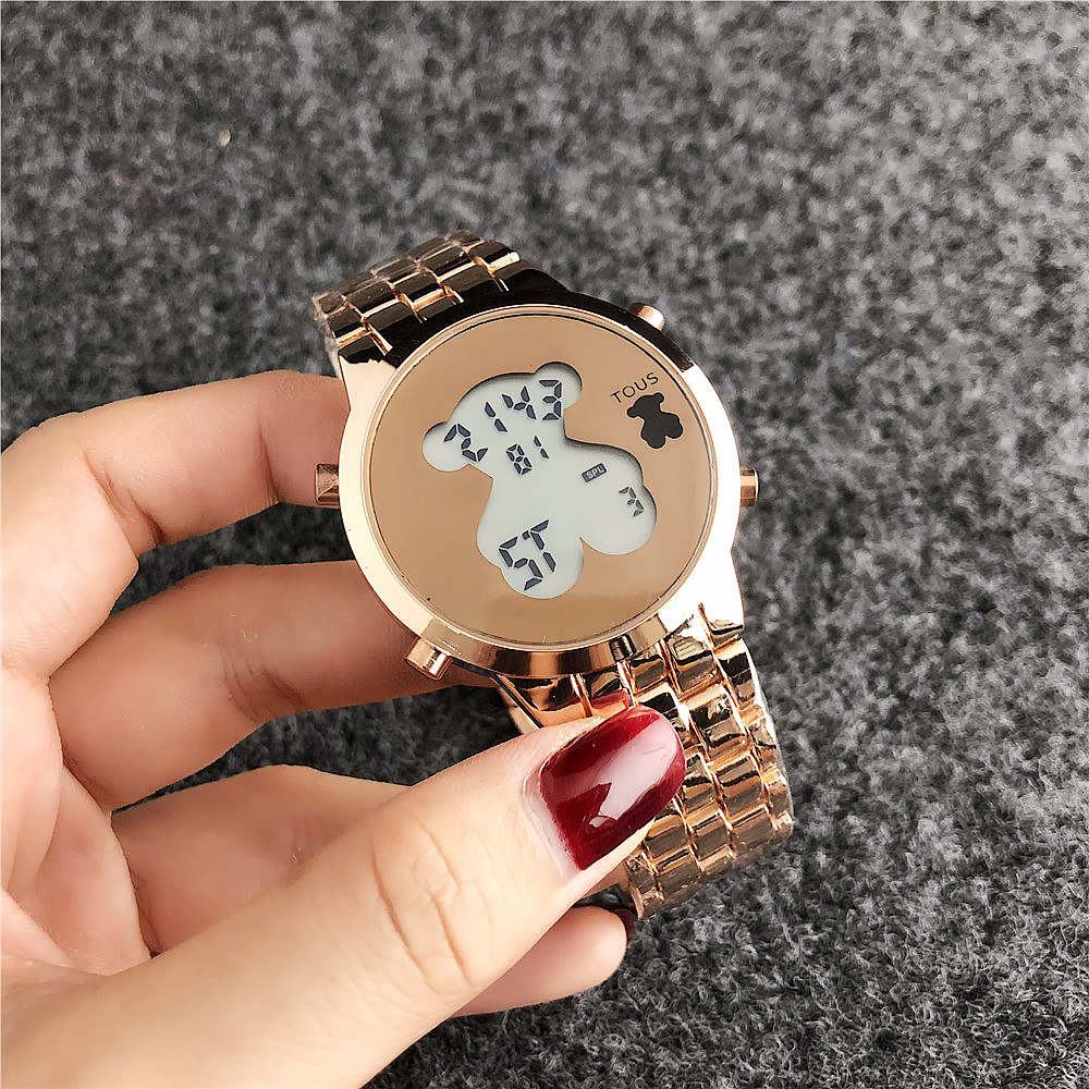 TOUSES pulsera reloj mujer cuarzo Casual reloj relojes pulsera reloj señoras cuarzo reloj cuero moda deporte TOUSES joyas