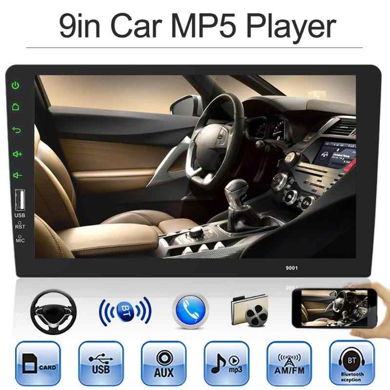 """1 Din カーラジオ中央マルチメディアプレーヤー 1Din 9 """"タッチスクリーン Autoradio Bluetooth FM USB 自動オーディオビデオステレオ MP3 MP5 プレーヤー"""