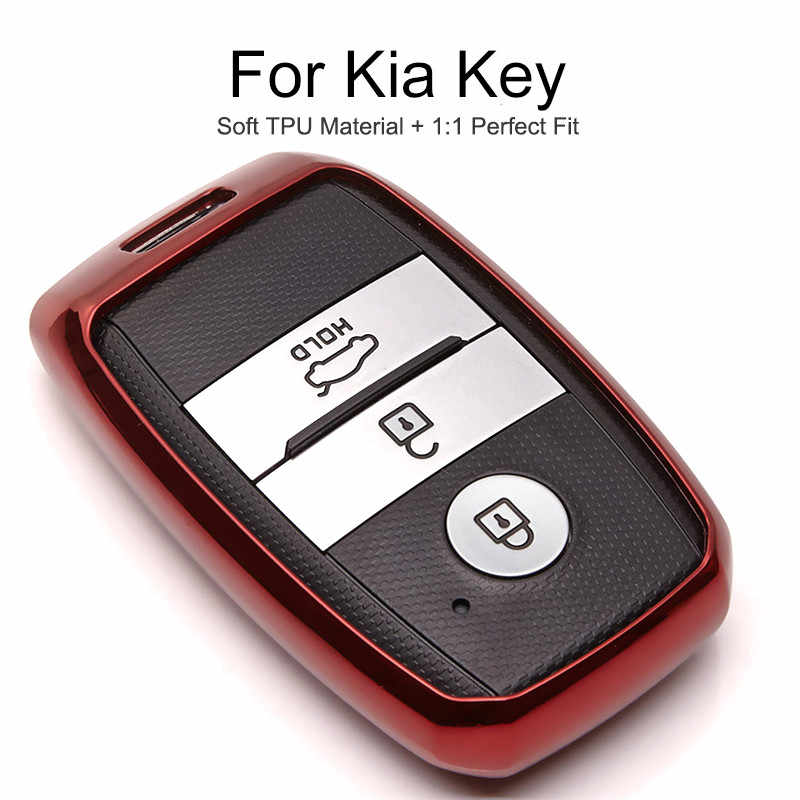 6 Color Tpu Car Key Cover Case For KIA Optima Sportage 4 2011 Cerato K3 Rio X line 3 K2 Ceed 2019 Key Chain Ring Shell Styling