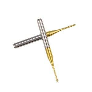 10 шт. 1,0 мм с титановым покрытием фрезерный станок с ЧПУ Бит Карбид PCB Фрезерный резак для металла фрезерный Гравировальный Бит