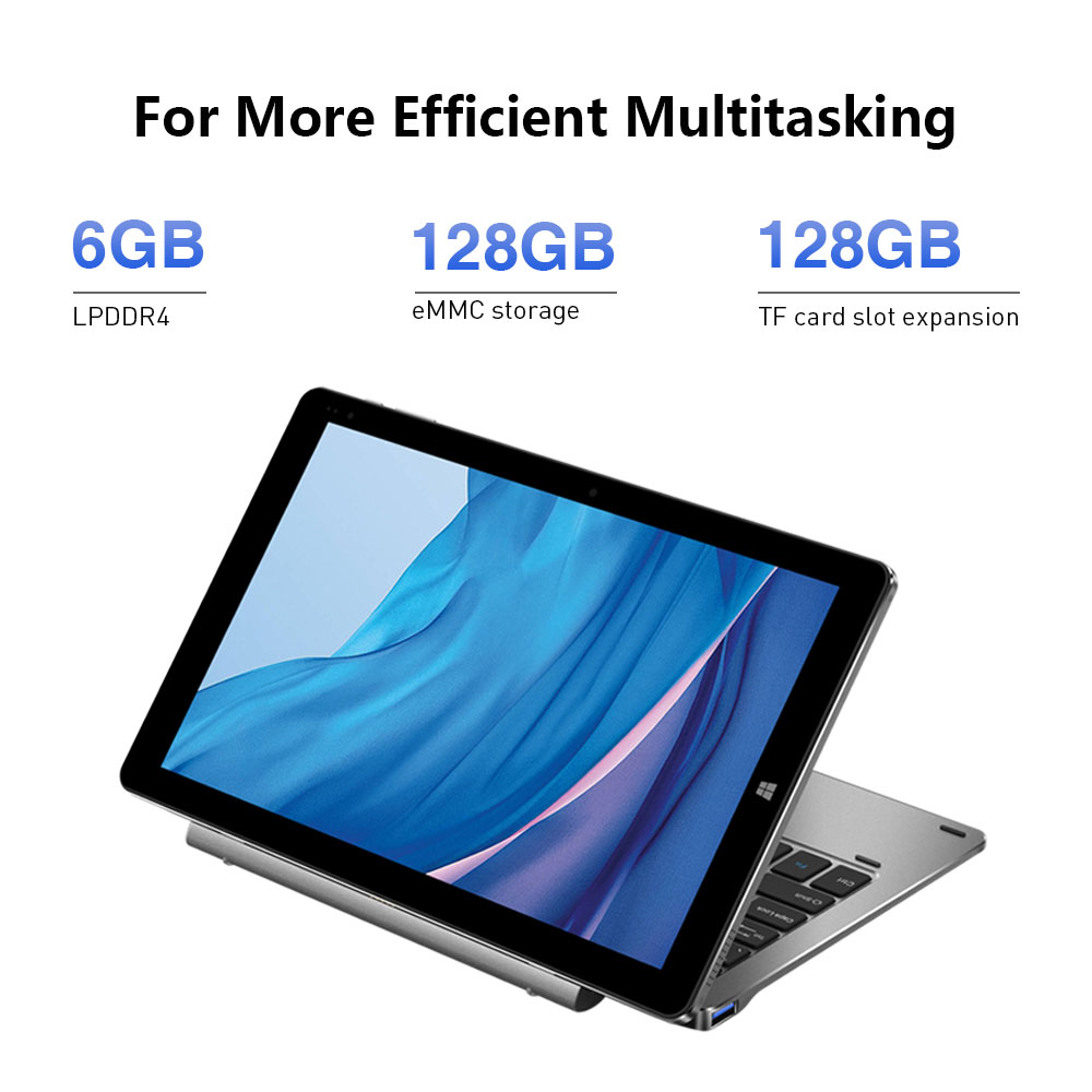 NEW Version CHUWI Hi10 X 10.1 inch FHD Screen Intel N4100 Quad Core 6GB RAM 128GB ROM Windows Tablets Dual Band 2.4G/5G Wifi 4