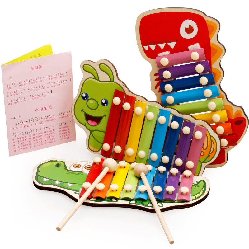 Children Musical Toys Rainbow Wooden Xylophone Instruments Baby Music Instrument Learning & Educational Toys Boys Girls