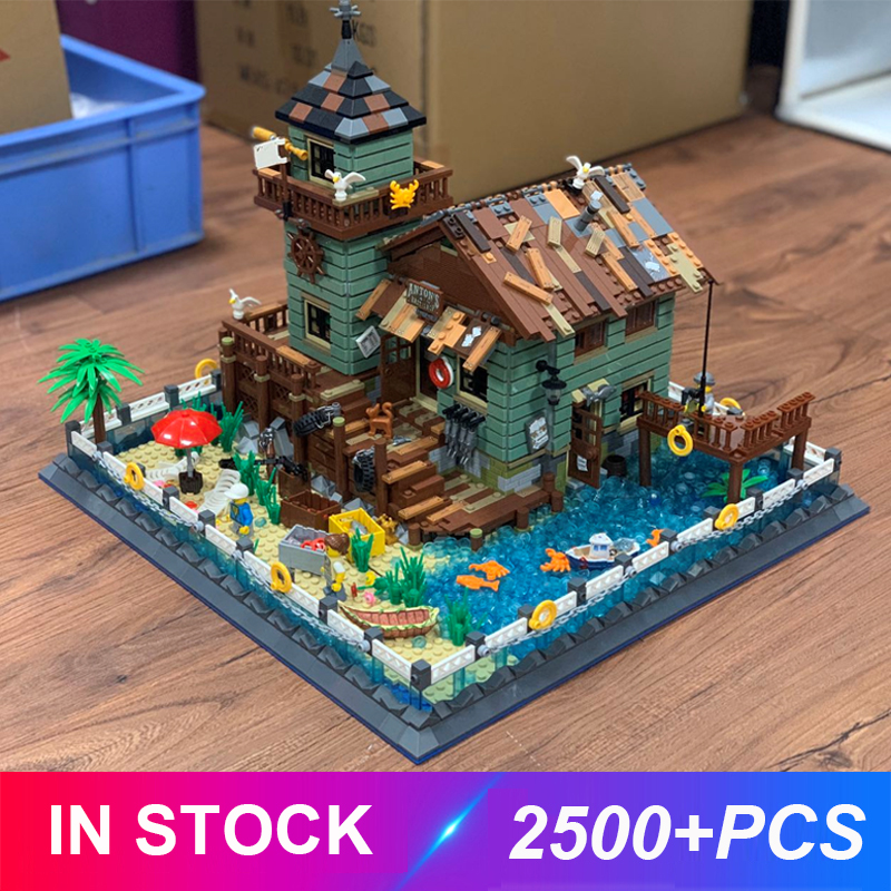 2020 New Moc The Old Fishing Store Model Building Blocks Educational Toys Gifts For Children Compatible LegoSet 21310 Toys Gift 1