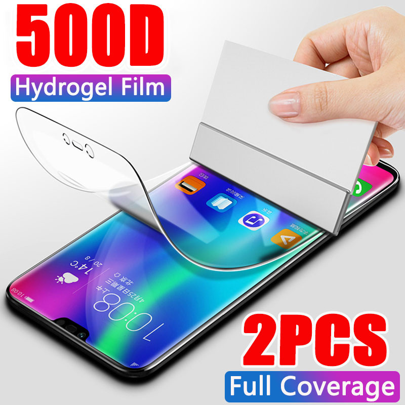 2Pcs 500D Hydrogel Film Screen Protector For Huawei P20 P30 P40 Lite Pro Screen Protector For Huawei Mate 10 20 30 Pro Not Glass(China)