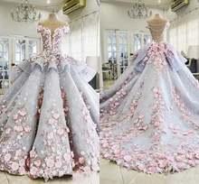 Роскошное бальное платье quinceanera 3d цветочное кружевное