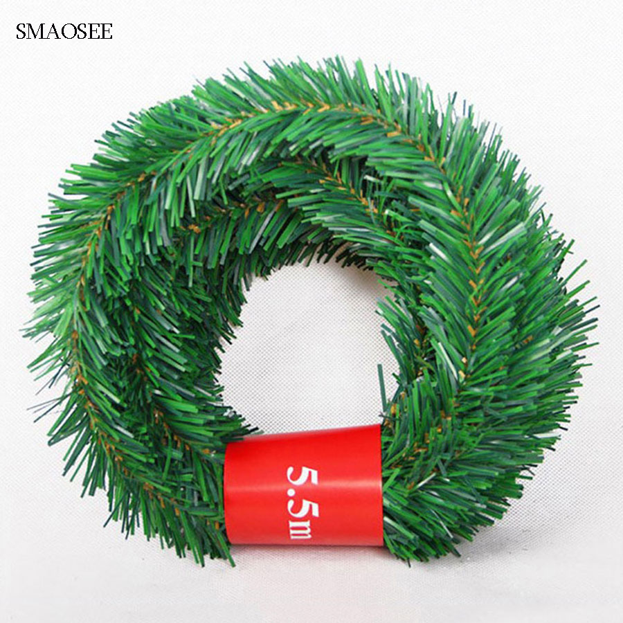 5.5M Festive Party Rattan DIY Wreath Christmas Decoration Garland XMAS Party Drop Ornament 2020 Christmas Decorations For Home-in Pendant & Drop Ornaments from Home & Garden