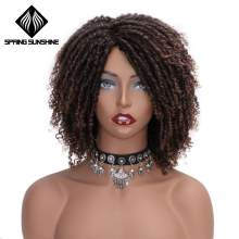 Soft Dreadlock Ombre Burg Wigs 6inch Short Synthetic Wigs For Black Women High Temperature Fiber Faux Locs Crochet Twist Hair(China)