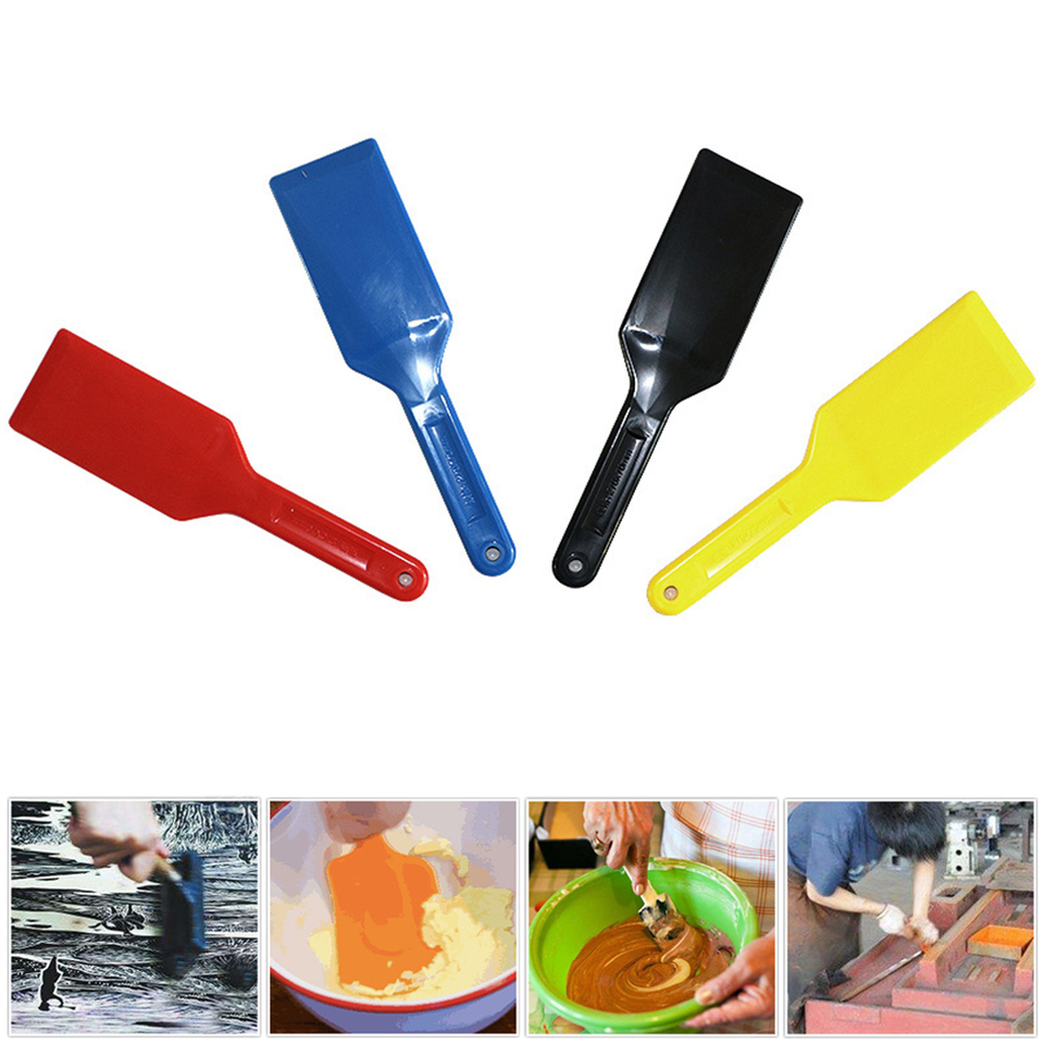DIY Screen Printing Scraper Set Lightweight Tools Ink Spatulas Round Corner