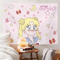 Pink Panther Tapestry Sailor Moon Wall Hanging Pinky Gilrs Tapestry Cute Wall Decor for Girls Dorm Room Decor Anime Tapestry
