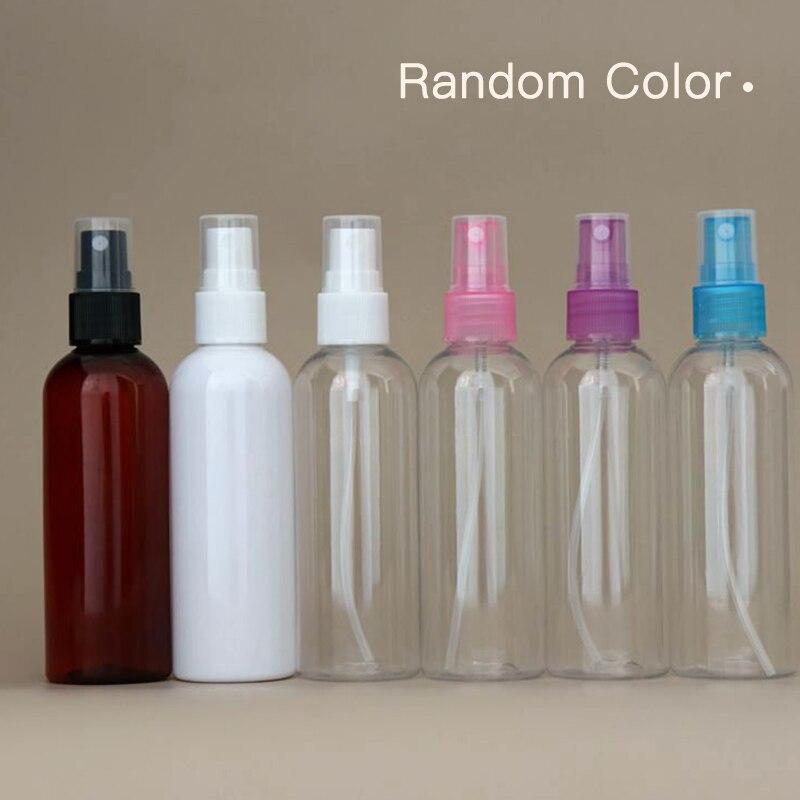 Mini atomizador de perfume plástico transparente, pequeno spray vazio recarregável de perfume para viagem, cor aleatória, 1 peça, 120 ml