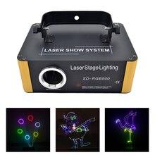 SD kart programı 500mW RGB lazer uzaktan animasyon tarama projektör sahne aydınlatma noel DJ parti Led DMX fasulye ışık tarayıcı ILD dosya