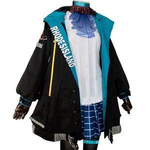 Image 3 - Disfraz de Cosplay de HSIU Arknights AMIYA para mujer, chaqueta, falda, camisa, juego completo de peluca, Disfraces de Halloween y Carnaval, hecho a medida