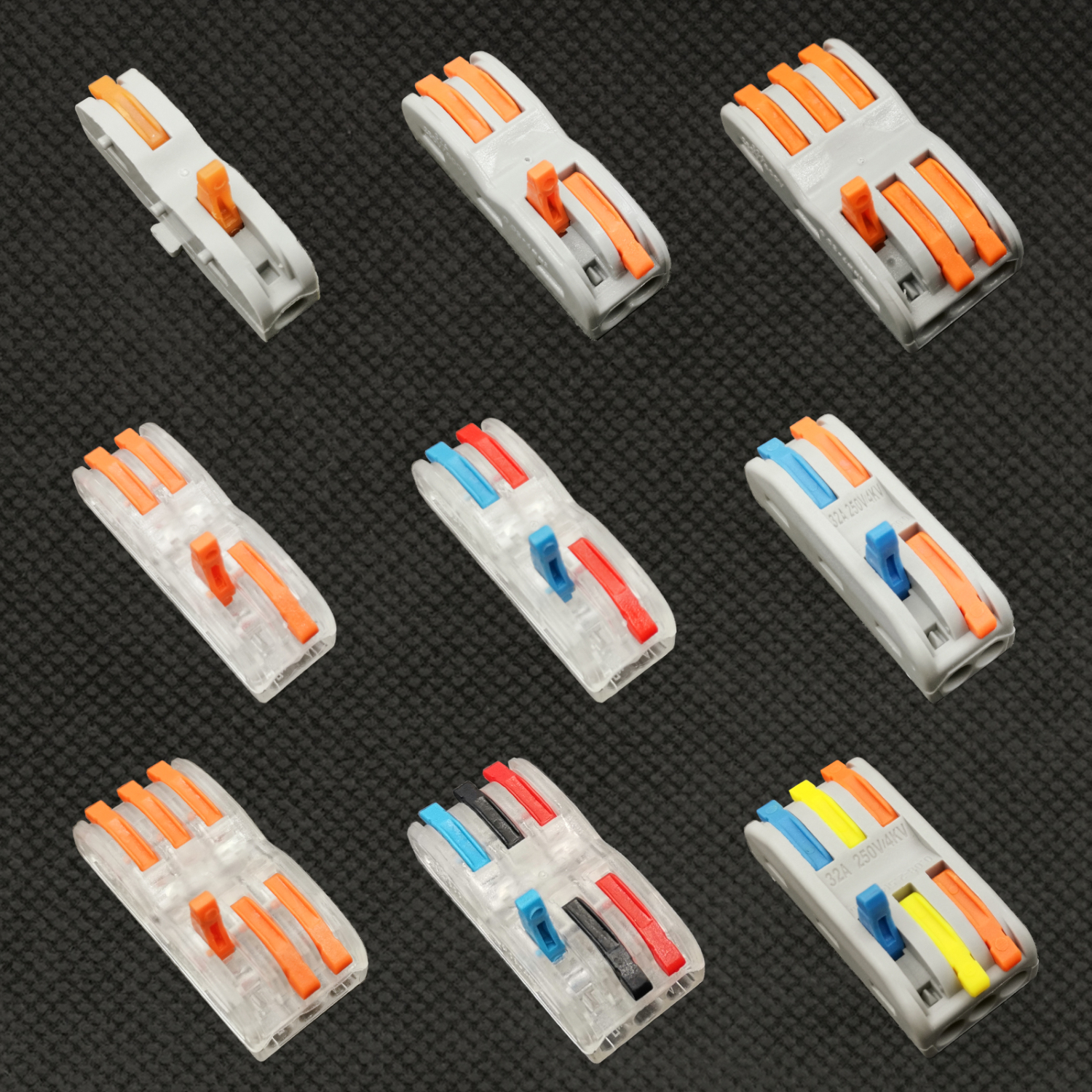 25-100Pcs Wire Connector Terminal Mini Fast Connectors,Universal Compact Cable Connector SPL-1 SPL-2 SPL-3 Terminal Block