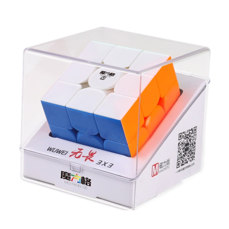 QiYi MoFangGe WuWei M 3x3 Magnetic Magic Cube Professional Magnets Speed 3x3x3 Cubo Magico Educational Toys Game