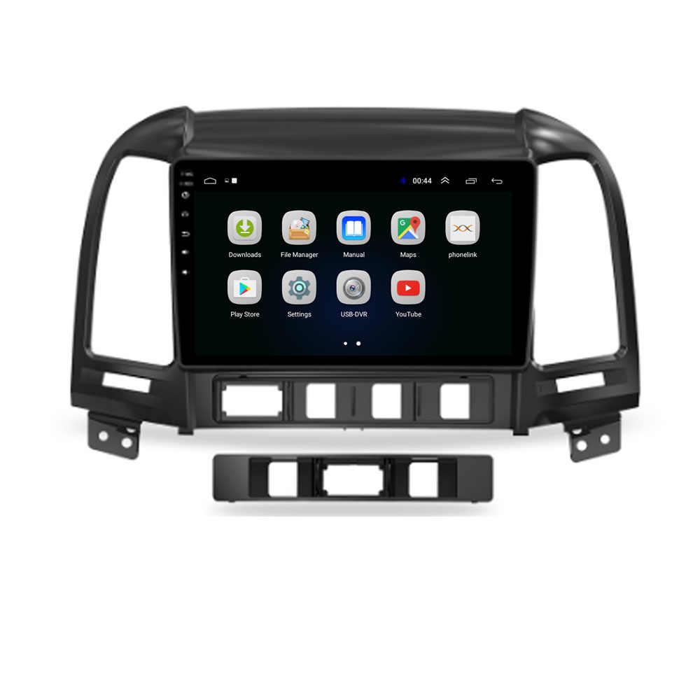 4G LTE Android 10.1 HYUNDAI SANTA FE için 2005 - 2008 2009 2010-2011 2012 multimedya Stereo araç DVD oynatıcı oynatıcı navigasyon GPS radyo