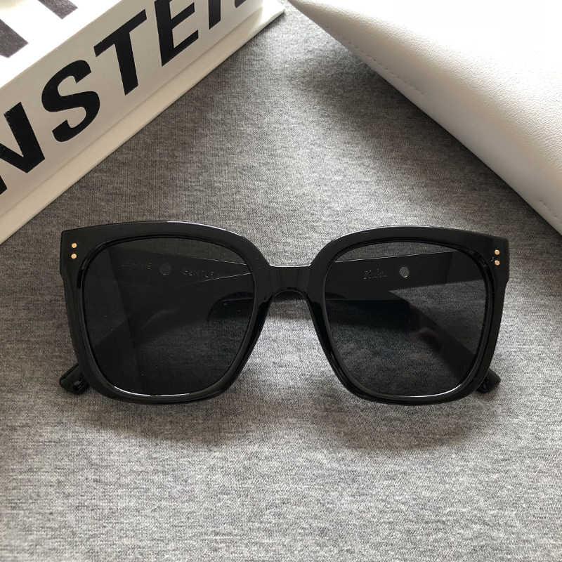 2020 nova marca coréia jennie cooperação gm óculos de sol moda feminina elegante óculos de sol clássico lady square frame kuku