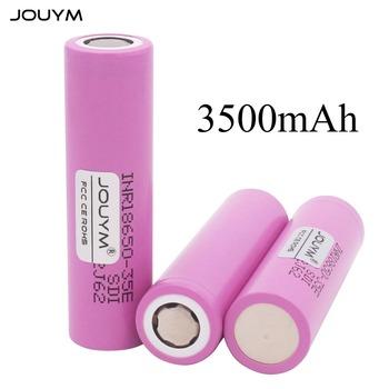 JOUYM 18650 bateria INR18650-35E 3500mAh 3 7V akumulator litowo-jonowy tanie i dobre opinie Li-ion NONE 3500 mAh CN (pochodzenie) Tylko baterie 1 pcs