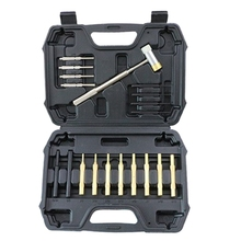 Hammer Gunsmithing Punches Brass Plastic And with Hollow-Steel for Maintenance. 19pcs