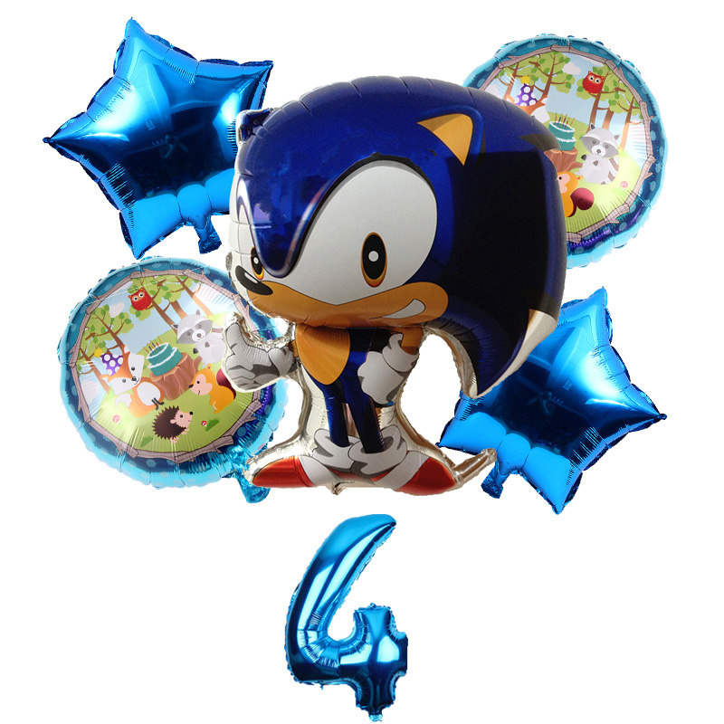 New 6pcs Lot Sonic The Hedgehog Balloons Superhero Sega Game Fans Foil Balloon Boy Happy Birthday Party Kids Toy Decor Supplies Ballons Accessories Aliexpress