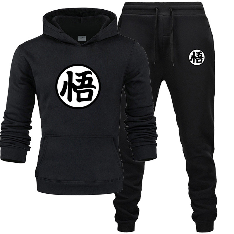 2020 New Fashion Hoodies Men SportGoku Sonand  CuteSweatshirt +Sweatpants Suits Casual Long Pants Thick Hoodie  Suit
