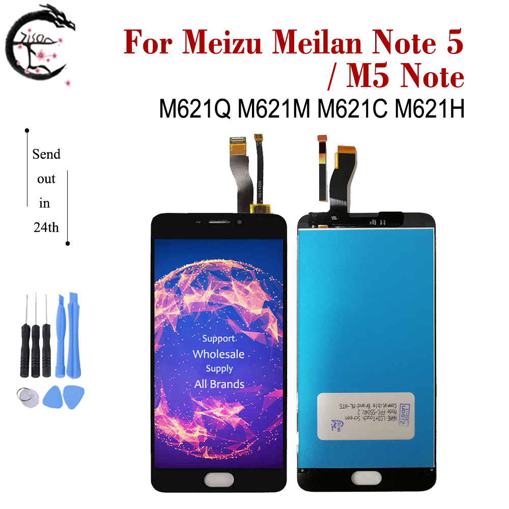 LCD With Frame For Meizu meilan Note 5 Note5 LCD Display Touch Screen Digitizer Assembly M5 Note <font><b>M621Q</b></font> M621M M621C M621H Display image