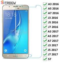 С уровнем твердости 9H Стекло для samsung Galaxy J3 J5 J7 Экран закаленное Стекло на samsung A7 A5 A3 S7 защитная пленка
