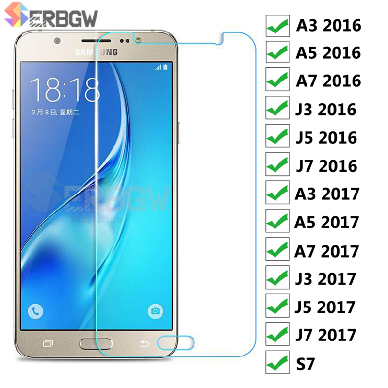 9H Protective Glass For Samsung Galaxy J3 J5 J7 2016 2017 Screen Tempered Glass On Samsung A7 A5 A3 2016 2017 S7 Protection Film