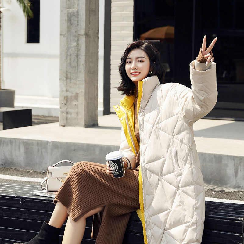 Новинка 2019, зимнее пуховое пальто, женская парка, Длинные куртки, женская теплая верхняя одежда больших размеров, Женская парка, одежда в Корейском стиле